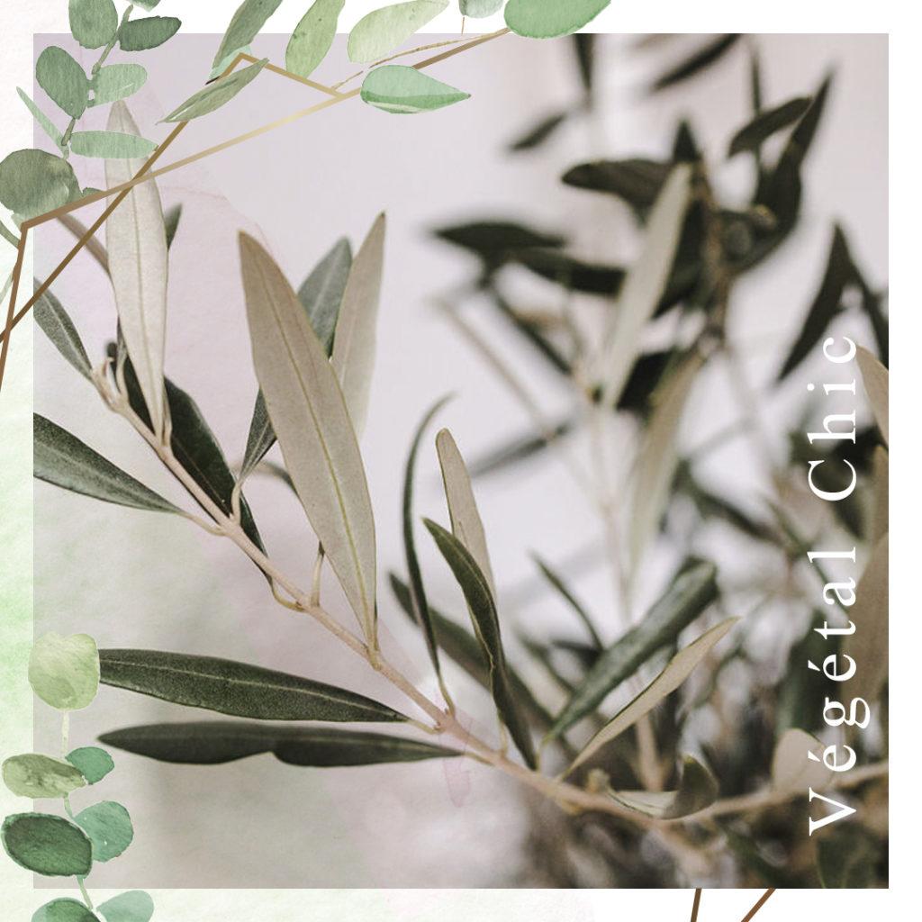 thème à personnaliser végétal chic - création aquarelle et géométrique moderne avec une touche de doré - les petits papiers du Bonheur...