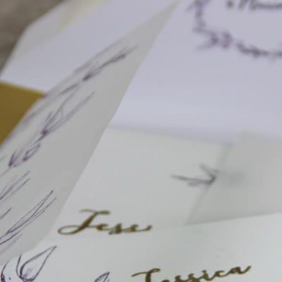papier calque pour des bellyband, superposition ou ou pochettes pour vos faire-part - les petits papiers du bonheur