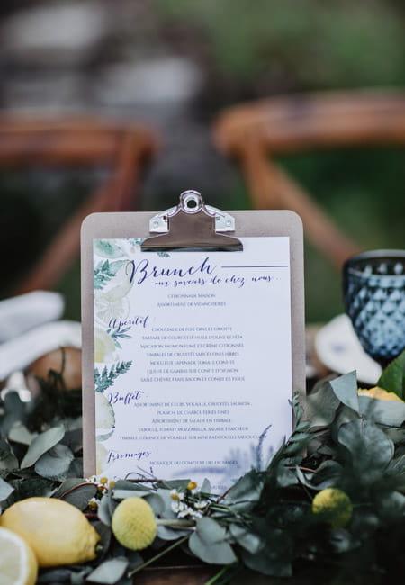 papeterie sur-mesure mariage provence citron, fougère, bohème les petits papiers du bonheur crédit photo paloma barret