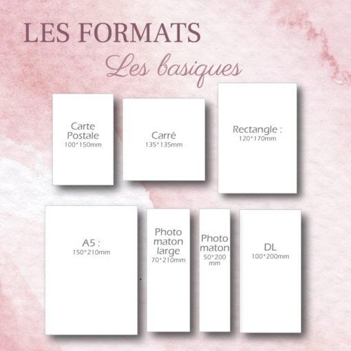 formats basiques pour création sur-mesure de faire-part mariage - les petits papiers du bonheur